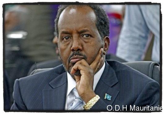 voir le zoom : Le nouveau président somalien Hassan Cheikh Mohamoud le 10 septembre 2012 à Mogadiscio